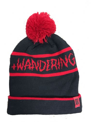 The Wandering Beanie - Black Red